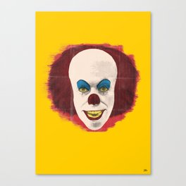 The Perplexing Pennywise, the Dancing Clown Canvas Print