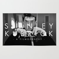stanley kubrick Area & Throw Rugs featuring Opening Kubrick by Martin Woutisseth
