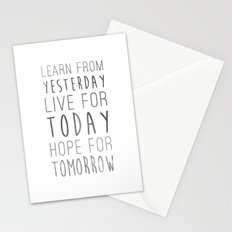Learn from Yesterday Stationery Cards