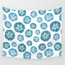 Blue Sand Dollars Wall Tapestry