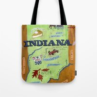 indiana Tote Bags featuring INDIANA by Christiane Engel