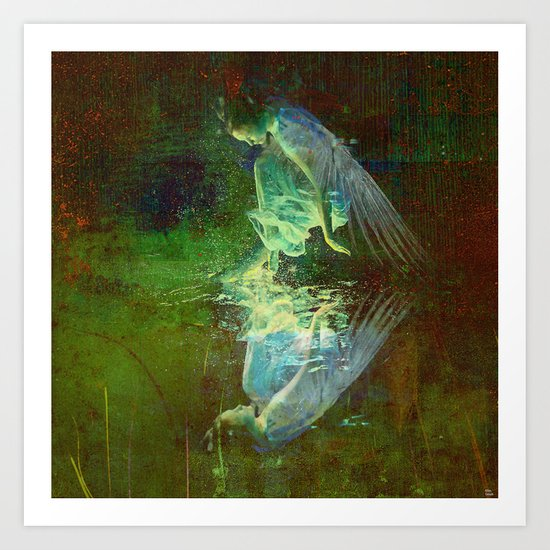 The reflection of the angel Art Print