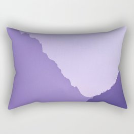 Grand Teton Mountains Jackson, Wyoming Purple  Rectangular Pillow