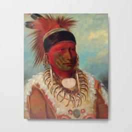 The White Cloud, Head Chief of the Iowas by George Catlin Metal Print