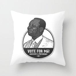 Mussum 4 President Throw Pillow