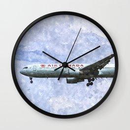 Air Canada Boeing 777 Art Wall Clock