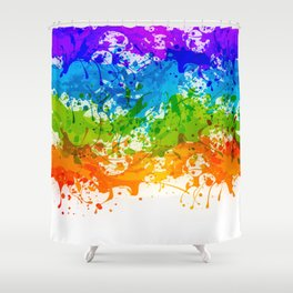 Colorful Splashes Shower Curtain