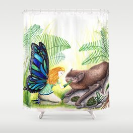 The fairy and the bat Shower Curtain