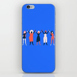 Girl Gang - Blue iPhone Skin