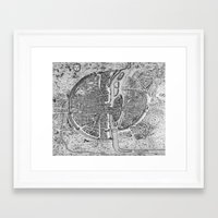 paris map Framed Art Prints featuring Paris map  by Le petit Archiviste