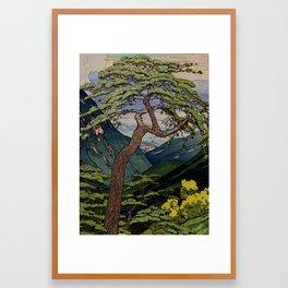 The Downwards Climbing Framed Art Print