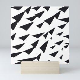 black soft arrows Mini Art Print