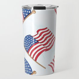 FACE MASK PHONE CASE AMERICAN FLAG AMERICA 4TH OF JULY ELECTION 2020 Travel Mug