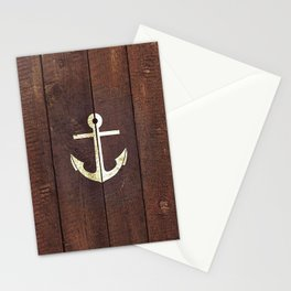 Anchor Wood Stationery Cards