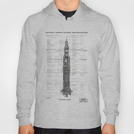 Apollo 11 Saturn V Blueprint in High Resolution (white) Hoody
