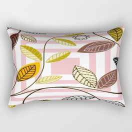 Rose Quartz, Clouds and Plants Rectangular Pillow