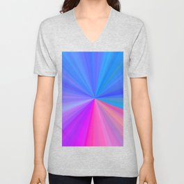 Colorburst in Pinks and Blues Unisex V-Neck