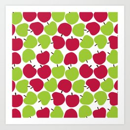 Apple pattern. Art Print
