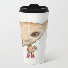 NORDIC ANIMAL - DEDE THE  DEER / ORIGINAL DANISH DESIGN bykazandholly Travel Mug