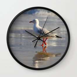 REFLECTIONS OF A SEAGULL Wall Clock