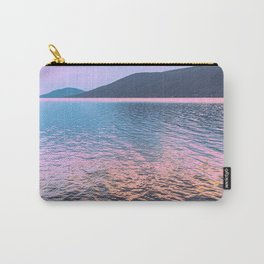 Pastel Lake Sunrise - Grainy Film Carry-All Pouch