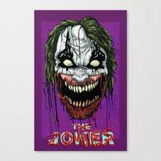 Joker Zombie Canvas Print