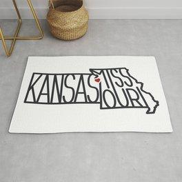 Kansas City Typography - Black Rug