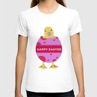 easter T-shirts featuring Happy Easter  by Sammycrafts