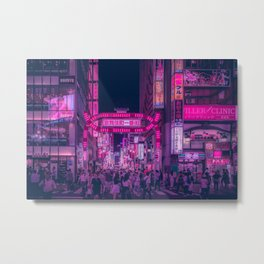 Pink Light District Metal Print