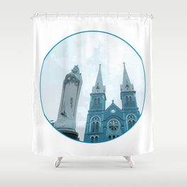 Vietnam Notre Dame Cathedral Ho Chi Minh City Shower Curtain