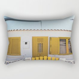 The Little Yellow House Rectangular Pillow
