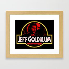 JURASSIC GOLDBLUM Framed Art Print