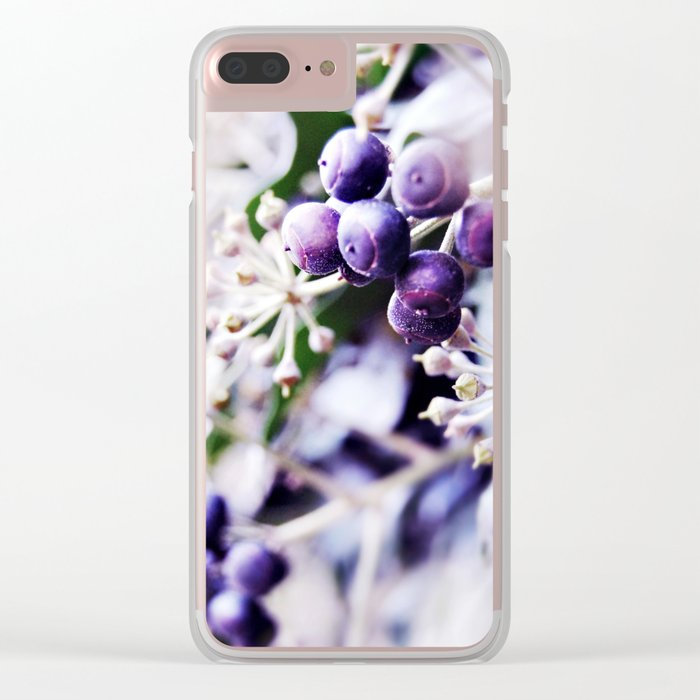 Vanilla Blue Clear iPhone Case