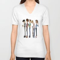 1d V-neck T-shirts featuring Another 1D poster by cargline
