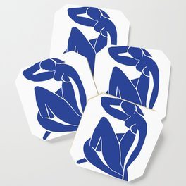 Matisse blue woman print, abstract woman print, matisse wall art, Abstract Modern Print, Coaster