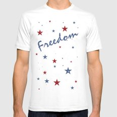 Freedom Mens Fitted Tee White MEDIUM
