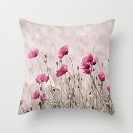 #Poppy #Pastell in #Pink #Beautiful #nature #Pattern from the #world Throw Pillow