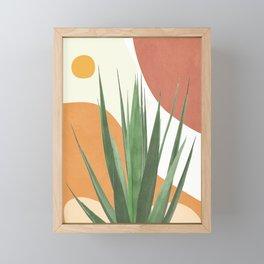 Abstract Agave Plant Framed Mini Art Print
