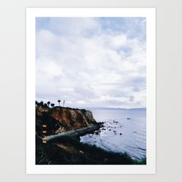 SoCal Cliffs Beach Art Print