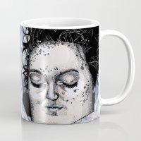 laura palmer Mugs featuring Laura Palmer by Drawn by Nina