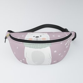 Cute Polar Bear Pink Fanny Pack