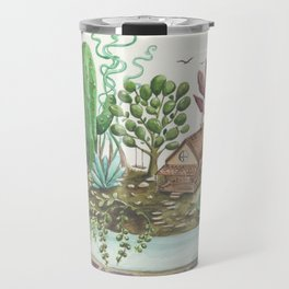 cabin fever in the cacti forest Travel Mug