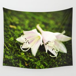 Plantain Lilies Wall Tapestry
