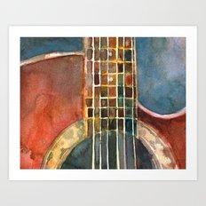 Ovation Accoustic Guitar  Art Print