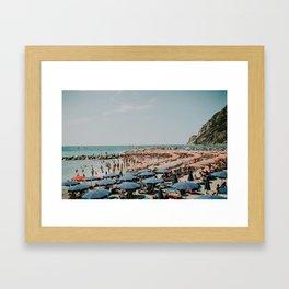 Sunbrella - Cinque Terre, Italy Framed Art Print