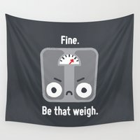 fitness Wall Tapestries featuring At a Loss by David Olenick