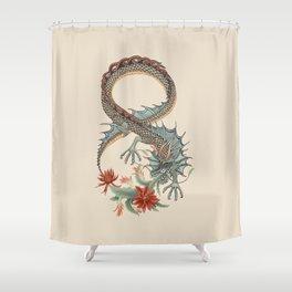 Botanical Flower Dragon 8 Shower Curtain