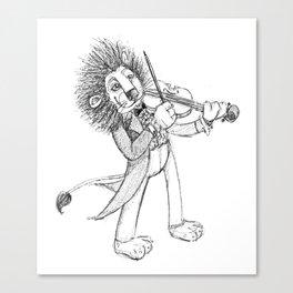 violin lion Canvas Print