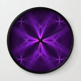 Purple Swag Wall Clock
