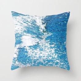 Hard Water Waves Abstract #watercolor #artprints #society6 Throw Pillow